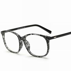 Black Marble Stylish Clear Lens Glasses NWOT